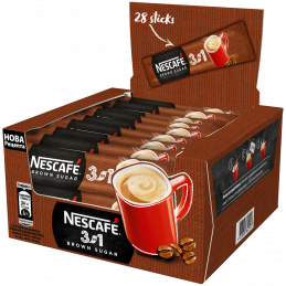 NESCAFE 3in1 Brown Sugar Кафе - 16.5 g - 28 бр.