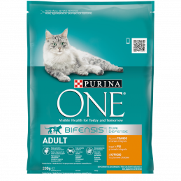 PURINA ONE ADULT с пиле 200 гр